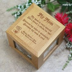 Personalized Mothers Day Photo Cube - Because My Mom is you - Gifts Happen Here - 1