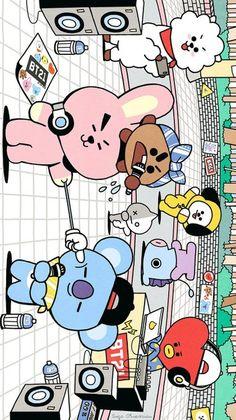 Bts Chibi, Chibi Boy, Bts Boys, Bts Bangtan Boy, Bts K Pop, Bts Drawings, Line Friends, Kpop, Bts Lockscreen