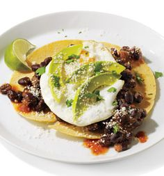 Tortillas With Eggs And Spicy Bean Chili Recipe