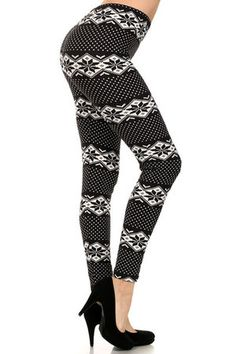 Snowflake Wrap Light Fleece Leggings