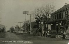 Germantown Pike - Postcard - Historical Images of Philadelphia Fairview Village, PA near Valley Forge Road Laura Ingalls Wilder, Old Pictures, Old Photos, Mansfield Missouri, Philadelphia, Best Vacation Destinations, Historical Images, Photo Postcards, Historic Homes