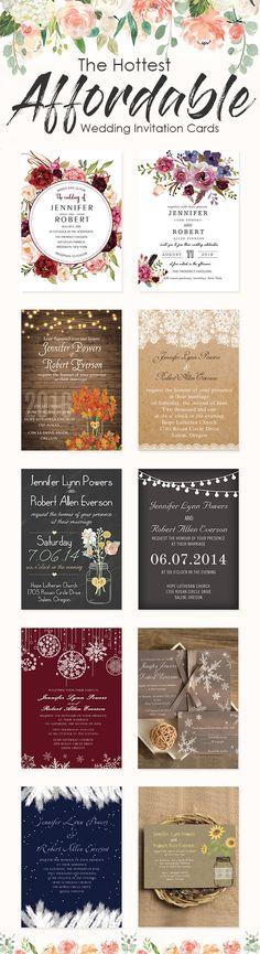 The Hottest Cheap and Affordable Wedding Cards from Elegant Wedding Invites#weddinginvitations#ElegantWeddingInvites