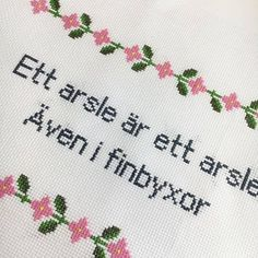 Diy Embroidery, Cross Stitch Embroidery, Words Quotes, Life Quotes, Bra Hacks, Proverbs Quotes, Lettering, Happy Thoughts, True Words