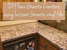 DIY Faux Granite Countertop - YouTube                              …