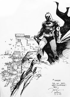 Batman / Sketch by Jim Lee Batman Dark, Im Batman, Superman, Batman Arkham, Comic Book Artists, Comic Artist, Comic Books Art, Jim Lee Batman, Jim Lee Art