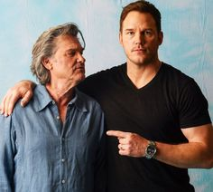 Chris Pratt and Kurt Russell