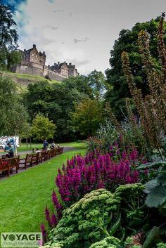 Edinburgh Castle from West Princes Street Gardens.  Photo by Through the Lens Cap  Photography