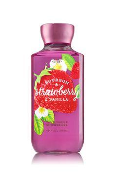Bourbon Strawberry & Vanilla Shower Gel - Signature Collection - Bath & Body Works