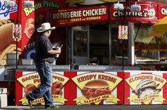 A deep-fried food stand at the Los Angeles County Fair in Pomona, Calif. (Lucy Nicholson / Reuters)