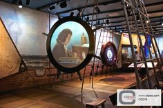 Maritime Museum. Amsterdam, Netherlands. Installer: I-OMS NL. Materials: 30% Translucent 307T fabric with P-CC profiles.