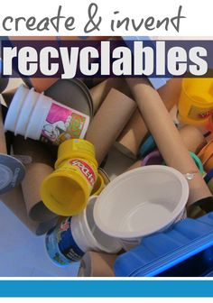 creative hands-on learning for kids: tabletop surprises | create and invent with recyclables! #weteach
