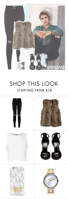 """""""seventeen magazine photoshoot with justin"""" by rosa-brooks ❤ liked on Polyvore featuring Justin Bieber, H&M, Glamorous, ARP, MICHAEL Michael Kors, Nixon, bieber, JustinBieber, selenagomez and kendalljenner"""