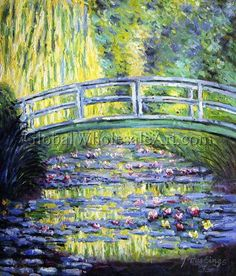 water lilies and japanese bridge monet for children - Google Search
