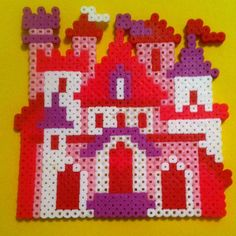 Fairy castle perler beads by 13_tiedye