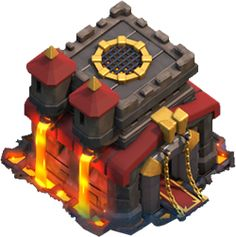 Town hall level 10 on clash of clans Clash Of Clans Attacks, Clash Clans, Clash Of Clans Android, Barbarian King, Clash On, Fire Image, Game Environment, Game Icon, Clash Royale