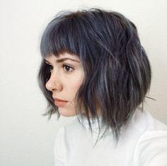 Steely blue @breelaliberte Instagram Gray hair, blue hair, dark blue, silver