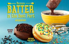 brownie batter and cake batter donuts