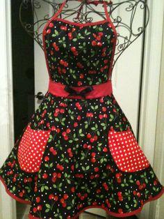 Cherry Theme apron