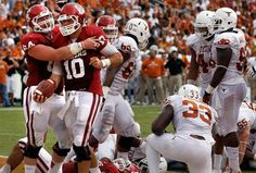 Blake Bell ran for four touchdowns in the first half, Landry Jones threw for 321 yards with two scores and the 13th-ranked Oklahoma Sooners annihilated the 15th-ranked Texas Longhorns, 63-21, at the Cotton Bowl in Dallas.