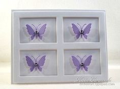 KC Impression Obsession Medium Butterflies 2 center Impression Obsession, Butterfly Frame, Pretty Cards, Covered Boxes, Hero Arts, Diy Cards, Clear Crystal, Card Making, Paper Crafts