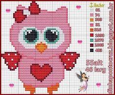Cross Stitch Owl, Cross Stitch For Kids, Cross Stitch Cards, Cross Stitch Animals, Cross Stitching, Funny Cross Stitch Patterns, Cross Stitch Designs, Owl Patterns, Embroidery Patterns