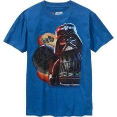 Lego Star Wars Dark Side Boys Graphic Tee, Size: 14/16, Blue