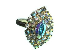 vintage 60s crystal ring / 1960s marquis by BreesVintageRevivals, $22.00