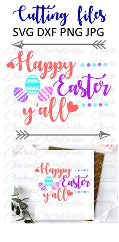 Happy Easter yall SVG Spring SVG Easter by CheerandCherryDesign