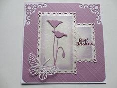Bilderesultat for memory box birthday banner die cards image Memory Box Cards, Memory Box Dies, Butterfly Cards, Flower Cards, Stamped Christmas Cards, Poppy Cards, Karten Diy, Purple Cards, Spellbinders Cards