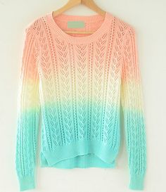 Gradient Colorful Sweater
