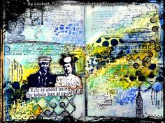 * Rubber Dance Blog *: The whole box of crayons : Art Journal spread