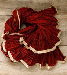 Wine Unisex Crinkled Chamundi Silk Stole