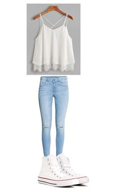 """School"" by princessdarkness1105 on Polyvore featuring Converse"