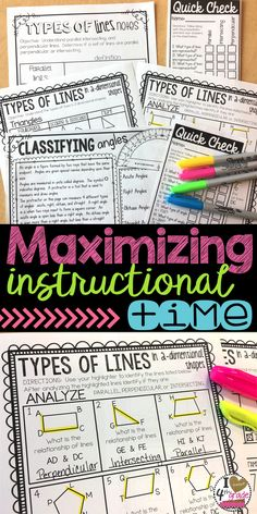 Maximizing Instructional Time | Lesson Plans | 4th grade math | Geometry Lessons | 4th grade lessons | Wanting to maximize instructional time to fit in standards?  Read how I maximize my lesson instructional time.