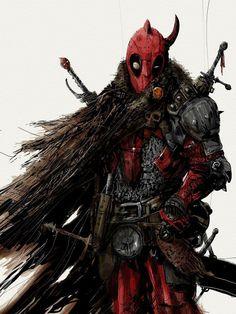 What do you think of this Medieval Deadpool design? Art by M. Hq Marvel, Marvel Dc Comics, Marvel Heroes, Superhero Villains, Marvel Characters, Comic Villains, Hulk, Deadpool Art, X Men