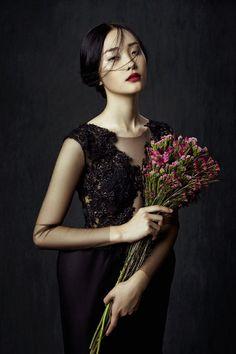 flowers zhang jingna8 Kwak Ji Young by Zhang Jingna in Flowers in December for Fashion Gone Rogue