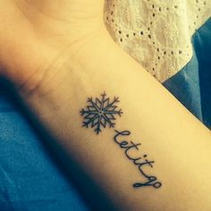 "Frozen tattoo...I would do ""That perfect girl is gone."" So debating this or my Pocahontas one. I can't decide!"