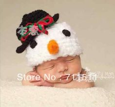 Retail Fashion New arrived Snowman styles baby hat handmade knitted hat infant photography props Christmas gift for your kids $8.30