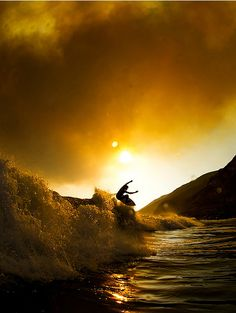 Pat Curren finding a ramp under a smoky sky during some northern LA County fires. ph Gordon #Surf #LosAngeles