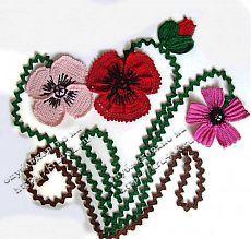Вязаное панно с маками - вязание крючком на kru4ok.ru
