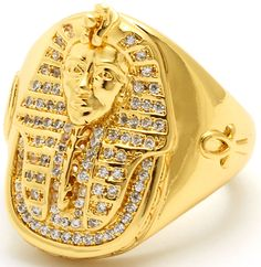 Gold Plated Rings, White Gold Rings, Ancient Egyptian Jewelry, Cross Jewelry, Jewelry Rings, Egyptian Pharaohs, Cubic Zirconia Rings, African Jewelry, 14 Karat Gold