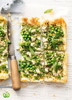 Spoil Mum this Mother's Day with a delicious Zucchini, Goats Cheese & Pea Slice