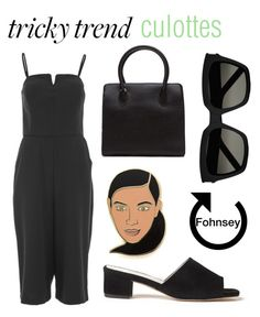 Tricky Trend: Culottes by fohnsey on Polyvore featuring polyvore, fashion, style, ONLY, Georgia Perry, Yves Saint Laurent, clothing, TrickyTrend and culottes
