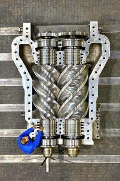 I want this on my car-(it's a supercharger) Mechanical Art, Mechanical Design, Mechanical Engineering, Power Engineering, Engineering Technology, Combustion Engine, Heavy Machinery, Porno, Car Engine