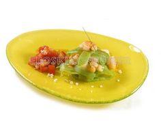 Receta de ensalada de judías verdes y gambas con vinagreta de tomate