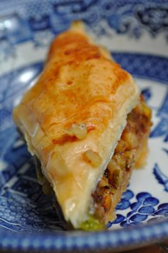 Homemade Baklava  Pastry make w/ Phyllo Dough & Nuts in a Honey-based syrup  at  $5.00