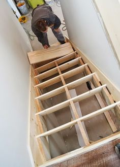 8 Creative And Inexpensive Tricks: Attic Transformation Before After attic library modern.Attic Stairs In Closet rustic attic bedroom. Attic Playroom, Attic Loft, Attic Stairs, Basement Stairs, Attic Rooms, Attic Office, Attic House, Attic Ladder, Attic Apartment