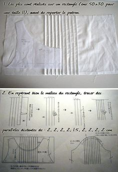 DIY Pis nervurés faciles diy and crafts Smocking Tutorial, Smocking Patterns, Dress Sewing Patterns, Clothing Patterns, Sewing Hacks, Sewing Tutorials, Sewing Crafts, Techniques Couture, Sewing Techniques