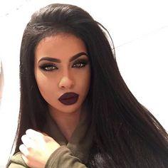 cute makeup – Hair and beauty tips, tricks and tutorials Makeup On Fleek, Flawless Makeup, Cute Makeup, Gorgeous Makeup, Pretty Makeup, Skin Makeup, Beauty Makeup, Hair Beauty, Dark Lipstick Makeup