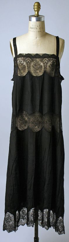Slip Date: 1925–29 Culture: probably French Medium: silk Dimensions: Length at CF: 41 3/4 in. (106 cm) Credit Line: Gift of Miriam Whitney Coletti, 1987 Accession Number: 1987.433.1